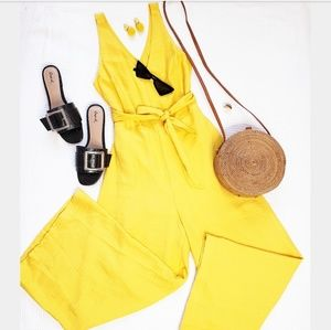 Pants - 🆕️//The Maddie//Bright Yellow Jumpsuit